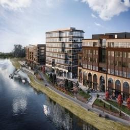 Khu dân cư đầu tiên được xây dựng dọc theo The Waterfront